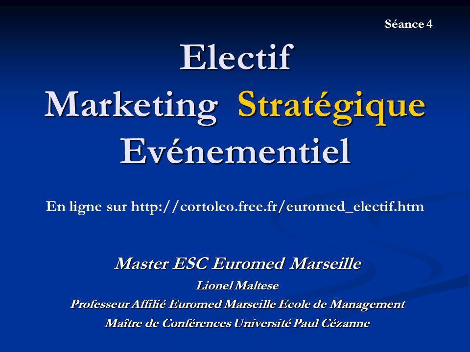 Electif Marketing Stratégique Evénementiel