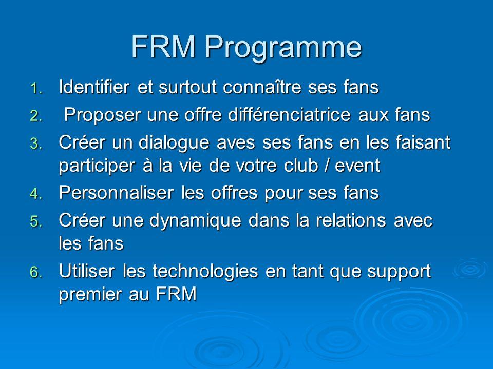 FRM Programme Identifier et surtout connaître ses fans