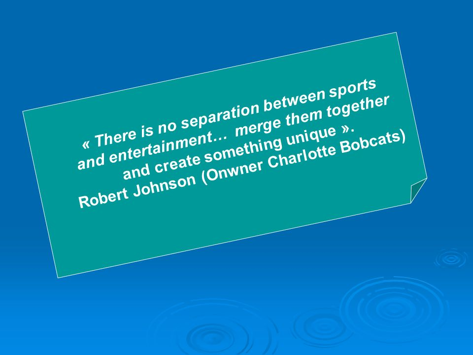 « There is no separation between sports