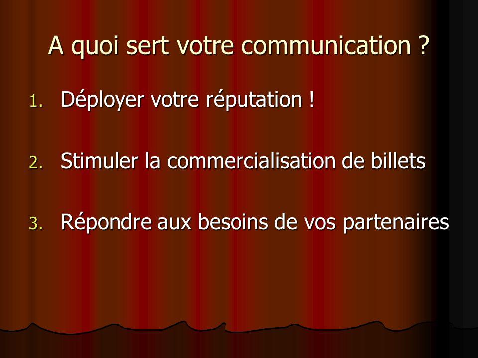 A quoi sert votre communication
