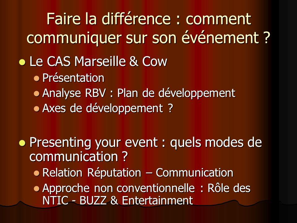 Faire la différence : comment communiquer sur son événement