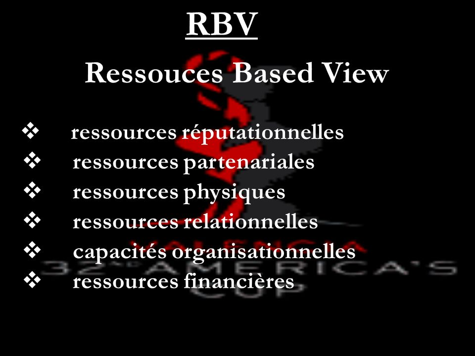 RBV Ressouces Based View ressources réputationnelles
