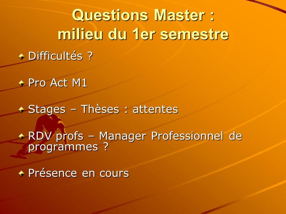Questions Master : milieu du 1er semestre