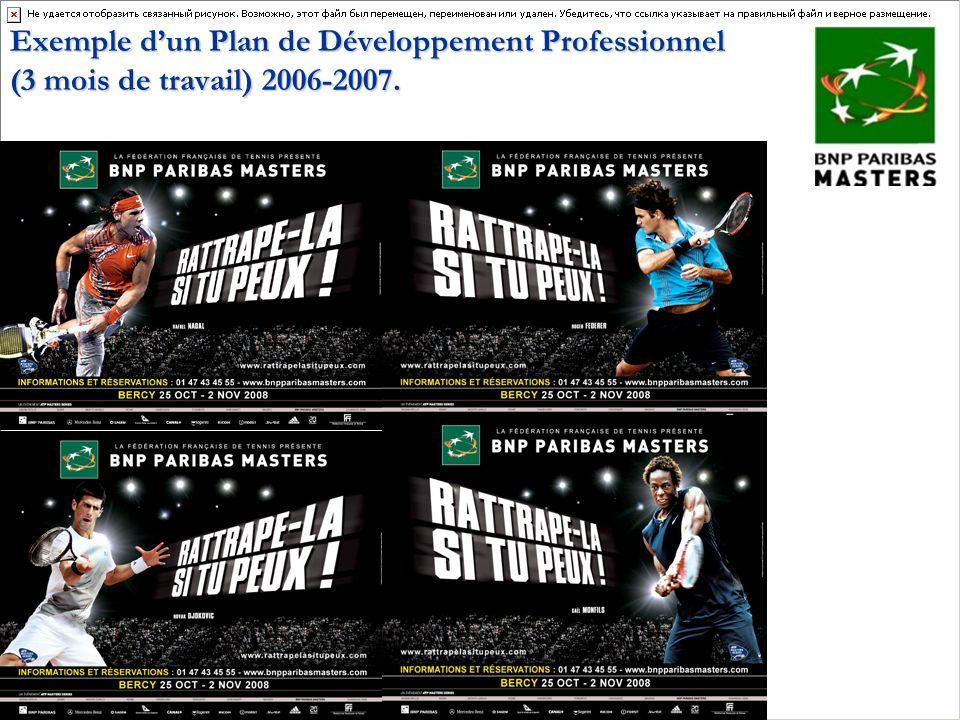 Exemple d'un Plan de Développement Professionnel (3 mois de travail) 2006-2007.