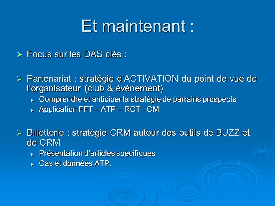 Et maintenant : Focus sur les DAS clés :