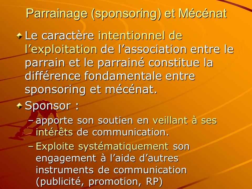 Parrainage (sponsoring) et Mécénat