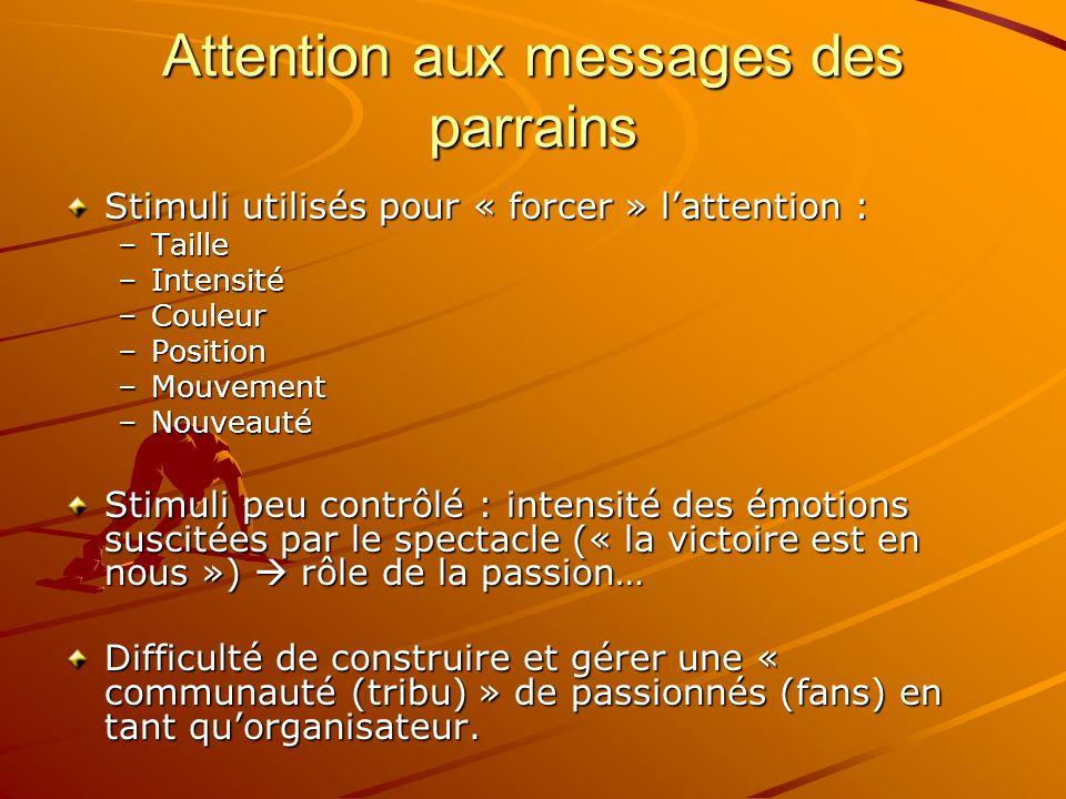 Attention aux messages des parrains