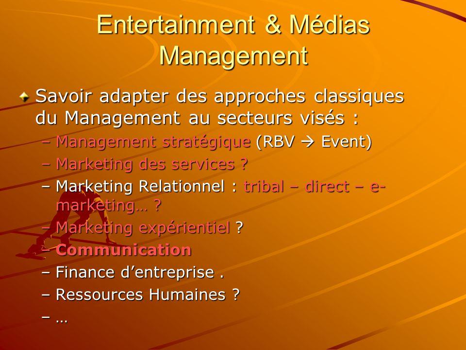 Entertainment & Médias Management