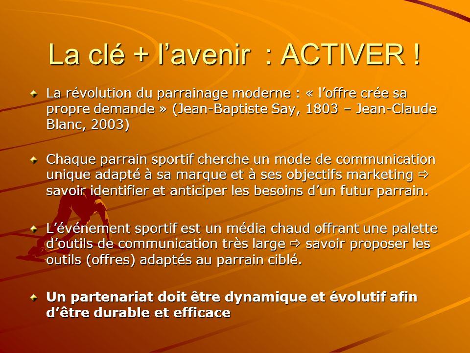 La clé + l'avenir : ACTIVER !