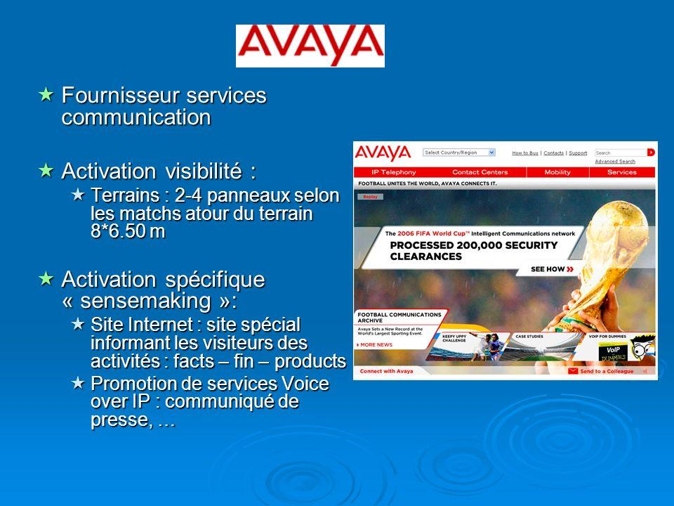 Fournisseur services communication