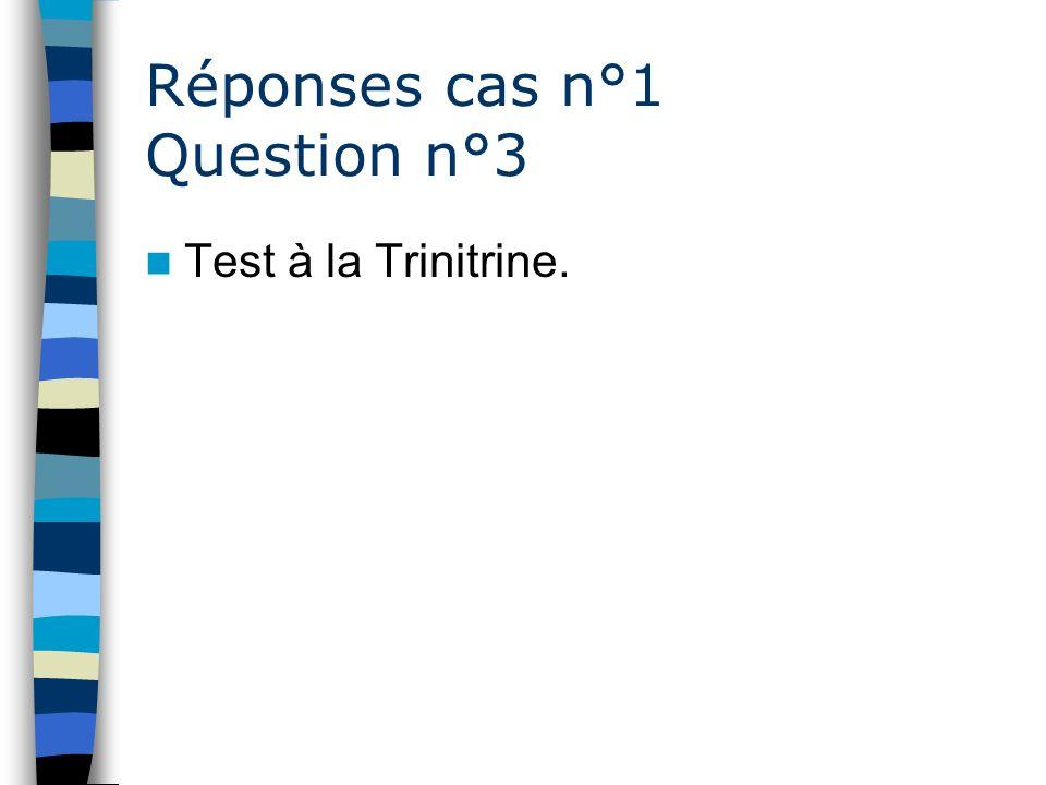 Réponses cas n°1 Question n°3