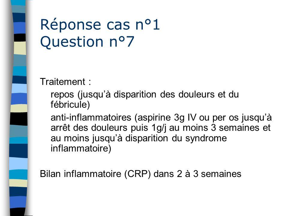 Réponse cas n°1 Question n°7