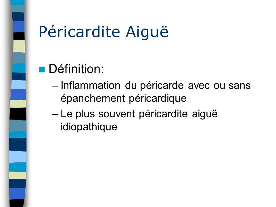 Péricardite Aiguë Définition: