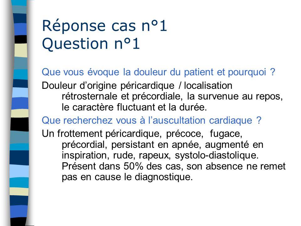 Réponse cas n°1 Question n°1