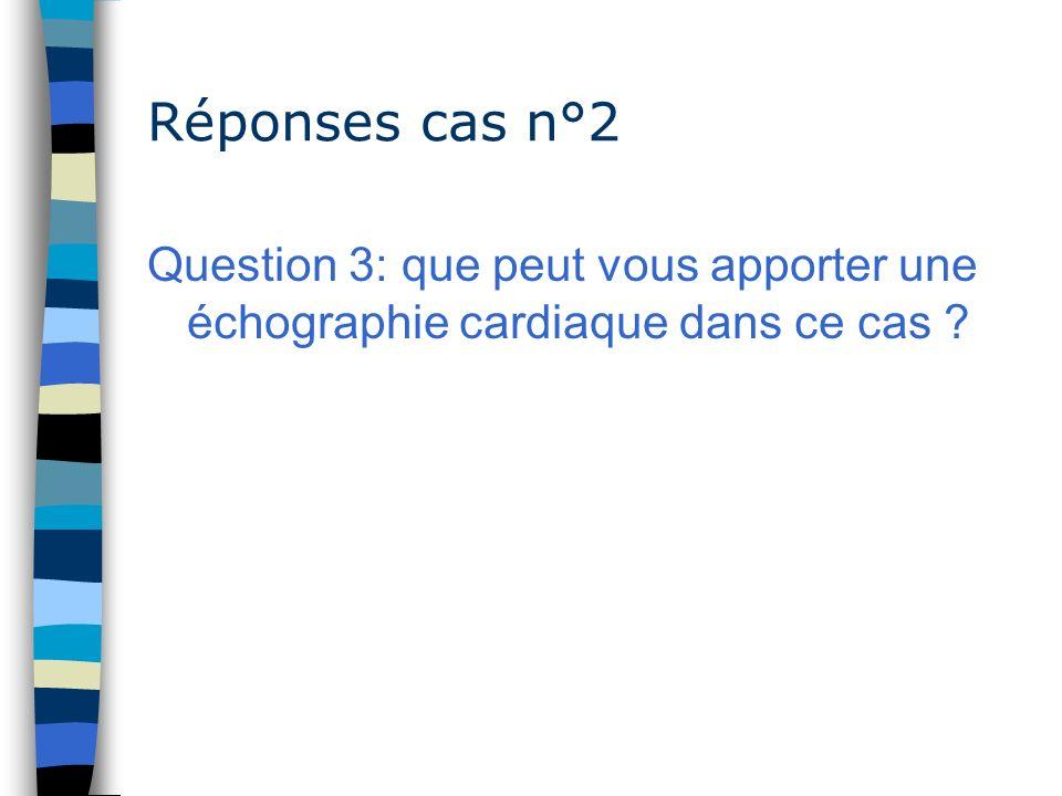 Réponses cas n°2 Question 3: que peut vous apporter une échographie cardiaque dans ce cas