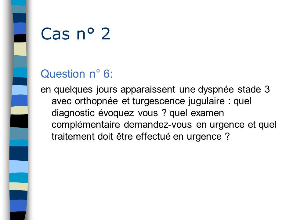 Cas n° 2 Question n° 6: