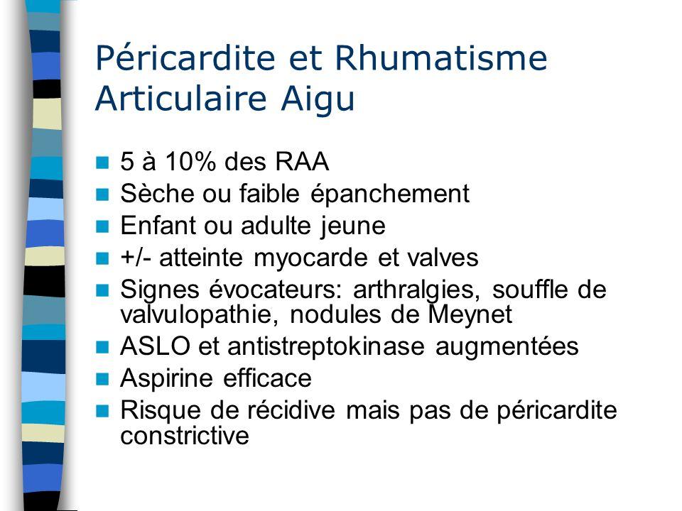 Péricardite et Rhumatisme Articulaire Aigu