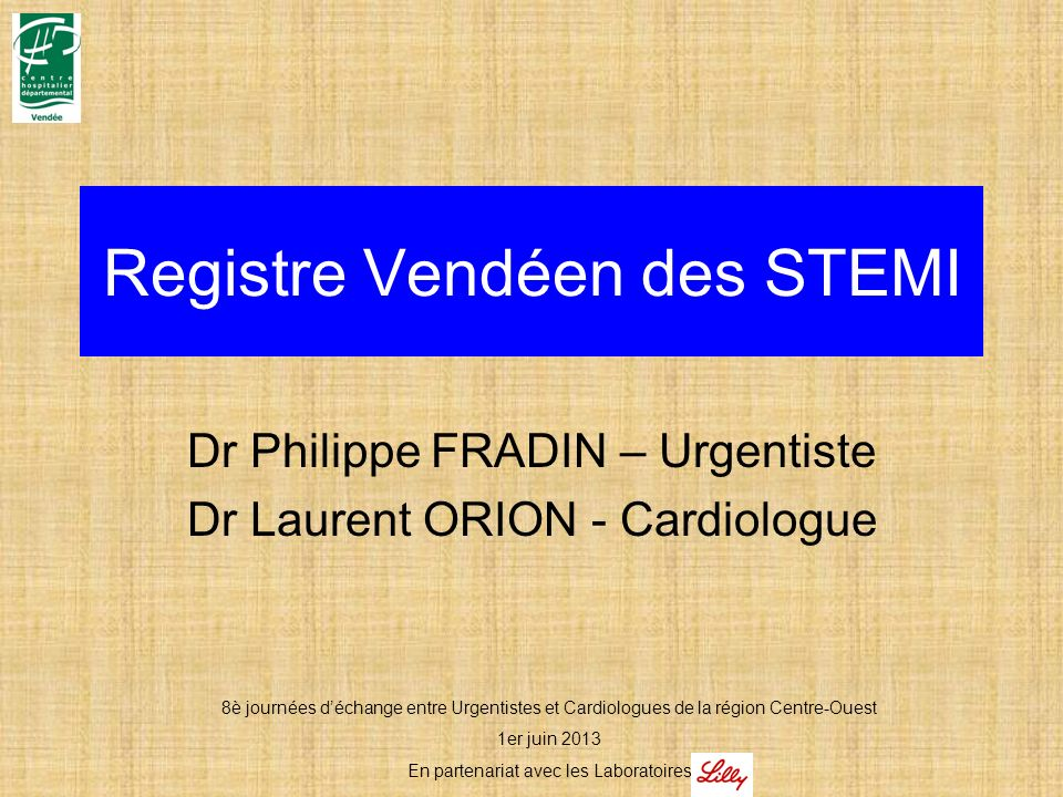 Registre Vendéen des STEMI