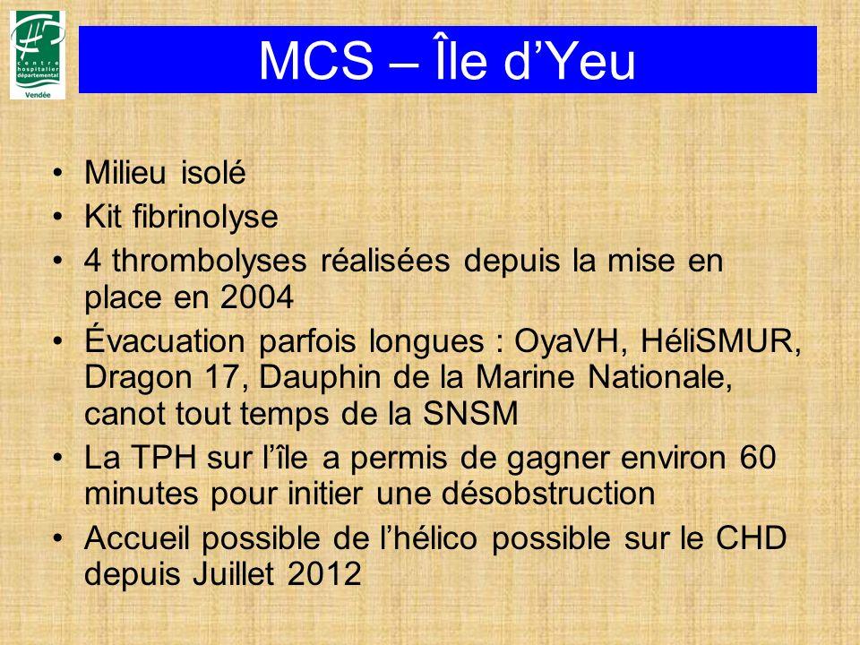 MCS – Île d'Yeu Milieu isolé Kit fibrinolyse