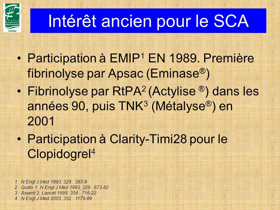 Intérêt ancien pour le SCA
