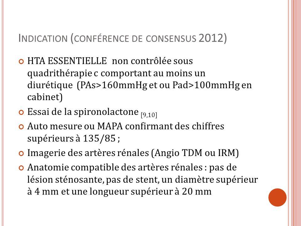 Indication (conférence de consensus 2012)