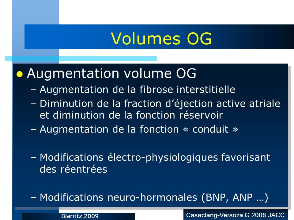 Volumes OG Augmentation volume OG