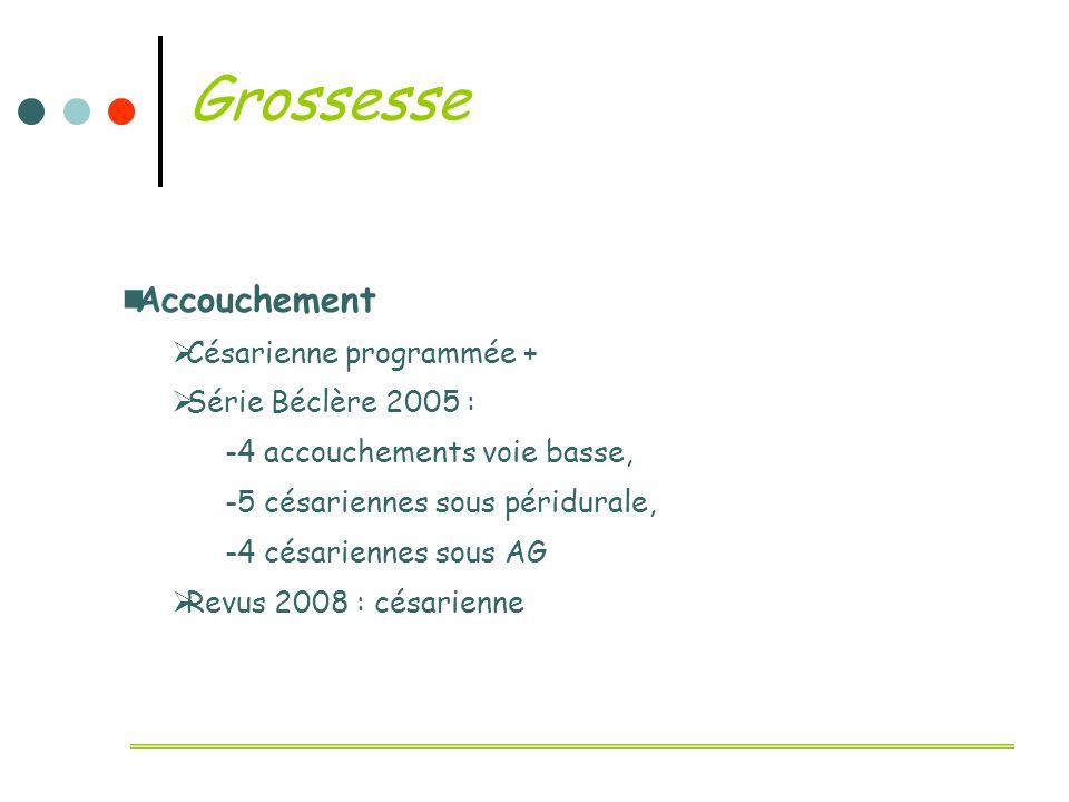 Grossesse Accouchement Césarienne programmée + Série Béclère 2005 :