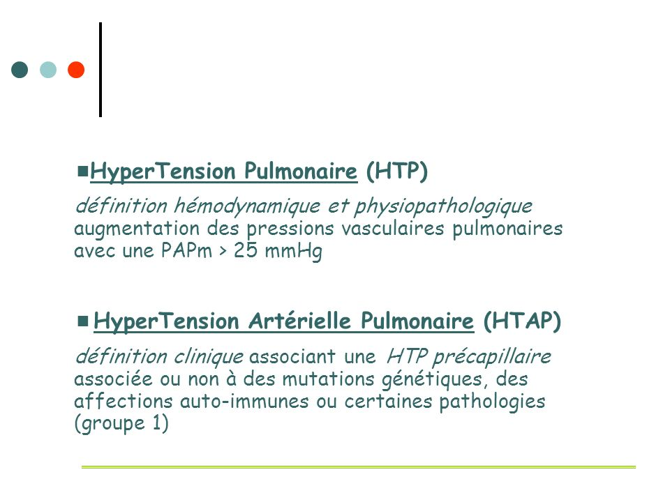 HyperTension Pulmonaire (HTP)