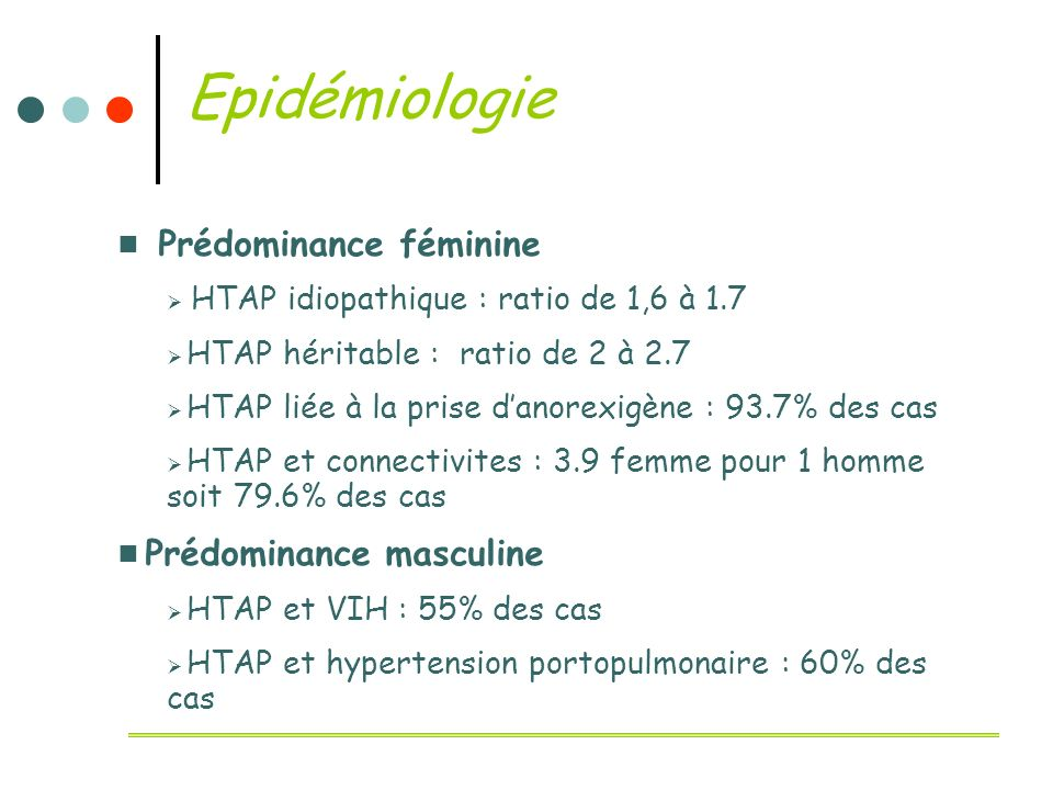 Epidémiologie Prédominance féminine