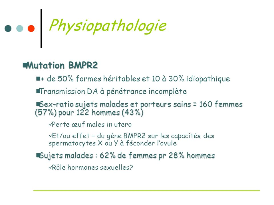 Physiopathologie Mutation BMPR2