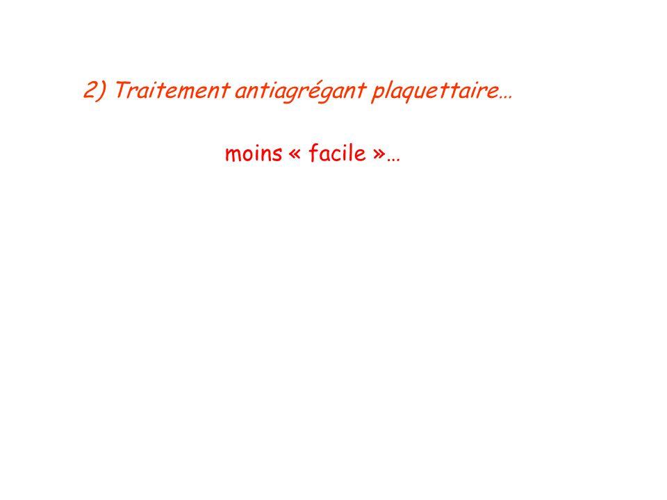 2) Traitement antiagrégant plaquettaire…