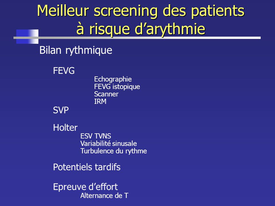 Meilleur screening des patients à risque d'arythmie