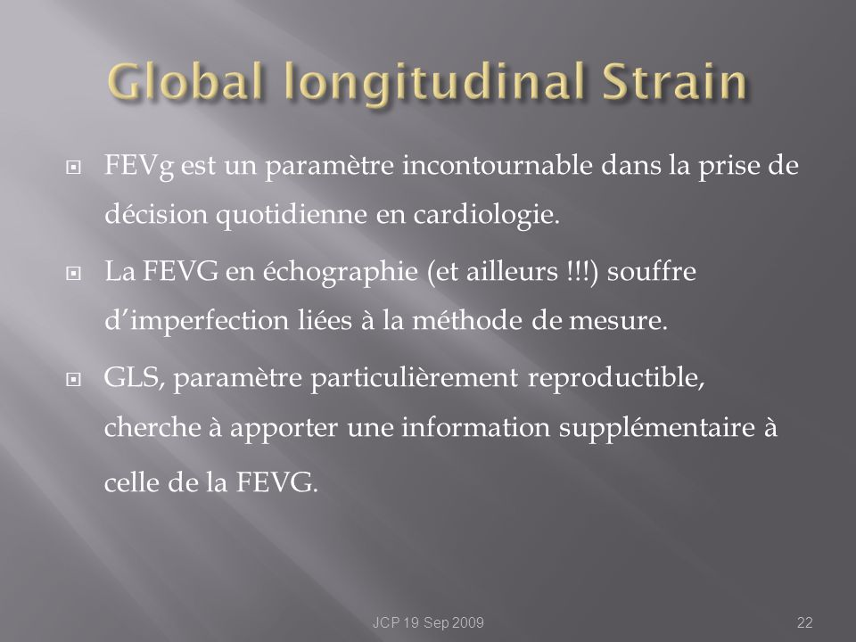 Global longitudinal Strain
