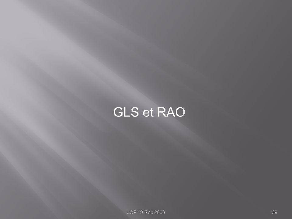 GLS et RAO JCP 19 Sep 2009