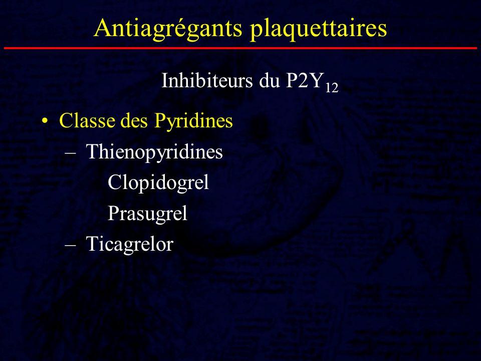 Antiagrégants plaquettaires