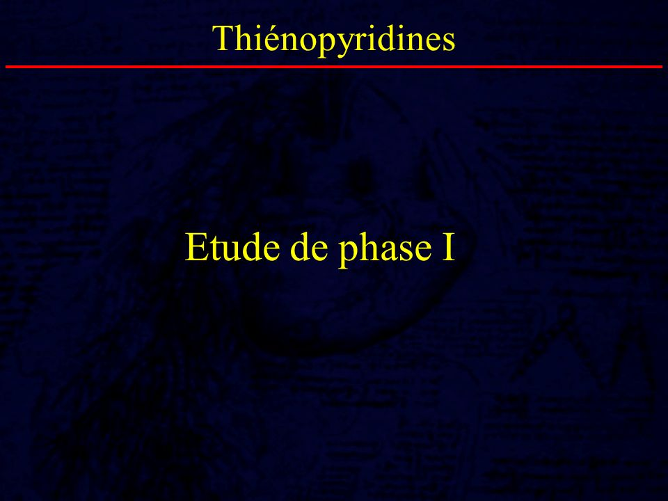 Thiénopyridines Etude de phase I 26