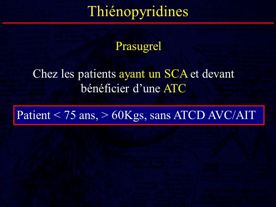 Chez les patients ayant un SCA et devant bénéficier d'une ATC