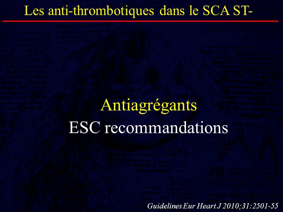 Antiagrégants ESC recommandations