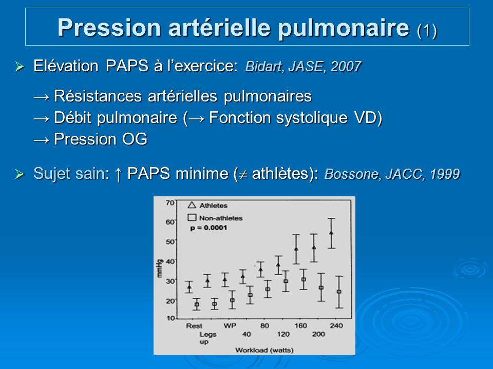 Pression artérielle pulmonaire (1)