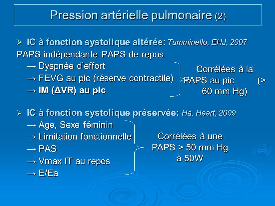 Pression artérielle pulmonaire (2)