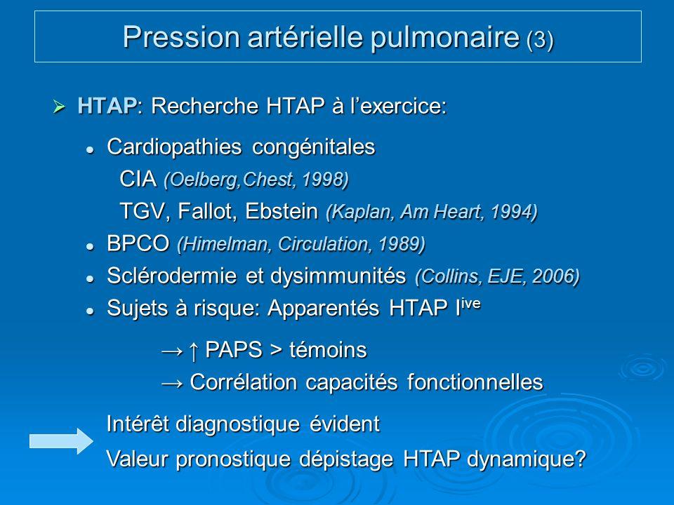 Pression artérielle pulmonaire (3)