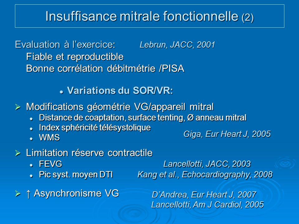 Insuffisance mitrale fonctionnelle (2)