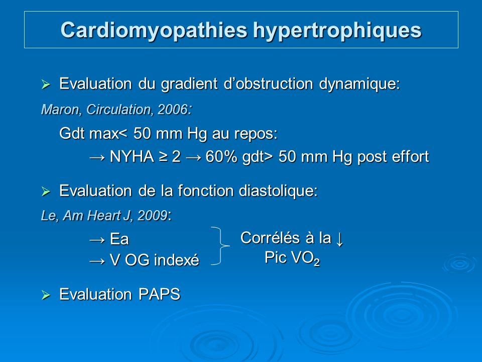Cardiomyopathies hypertrophiques