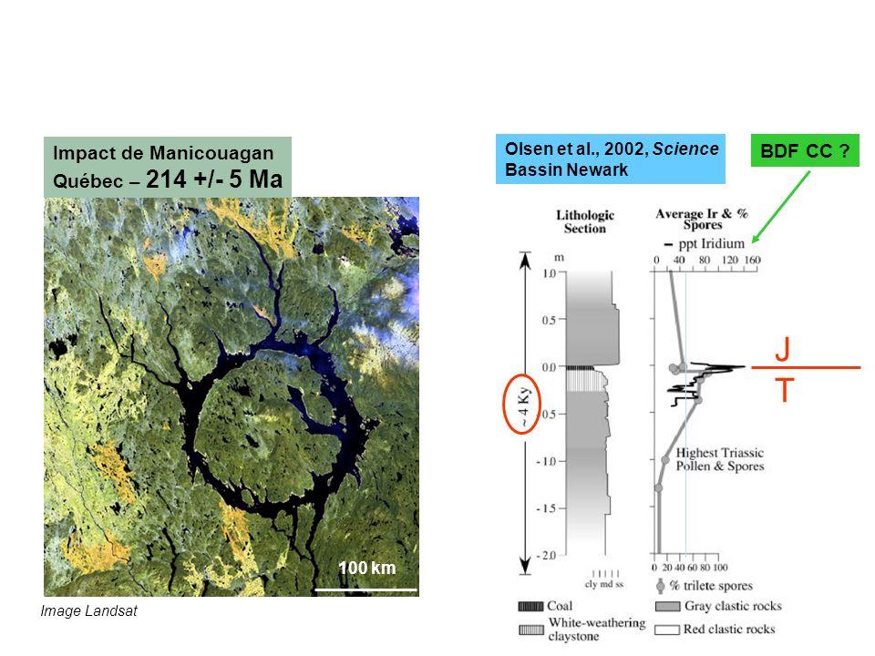 LIMITE TRIAS - JURASSIQUE : météorite(s)