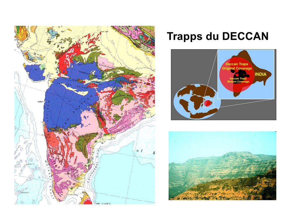 3 Les grandes transitions VOLCANISME Trapps du DECCAN