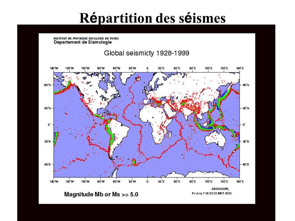 Répartition des séismes