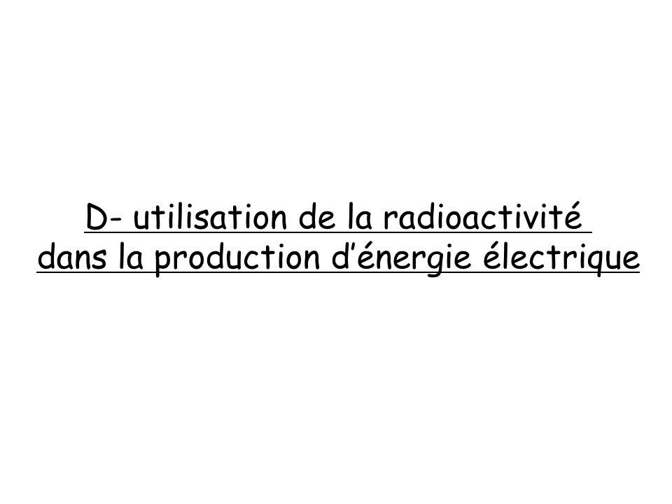 D- utilisation de la radioactivité