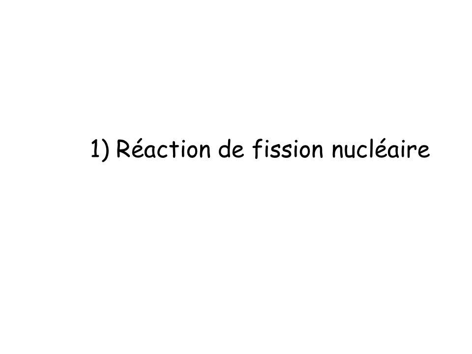 1) Réaction de fission nucléaire