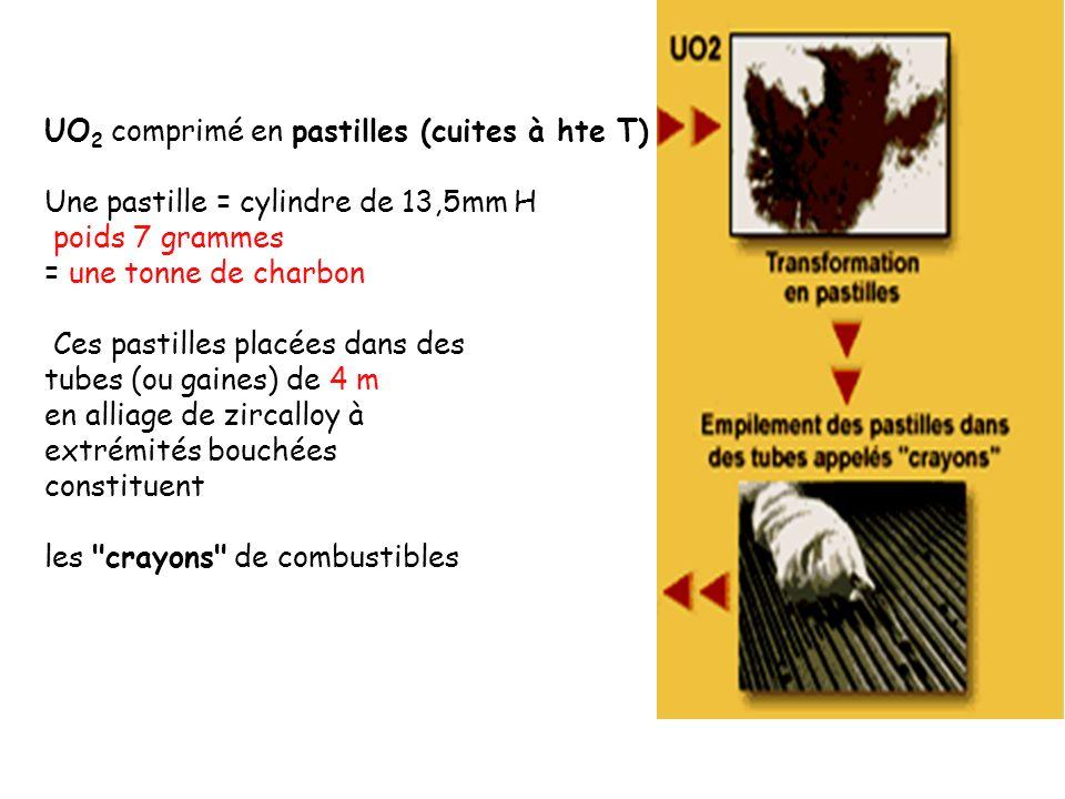 UO2 comprimé en pastilles (cuites à hte T)