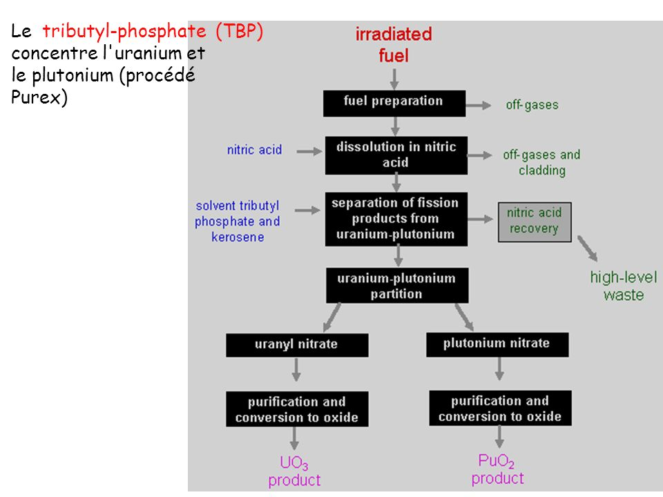 Le tributyl-phosphate (TBP)